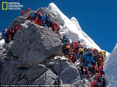 National Geographic and The North Face in Everest Expedition, saw how the mountain has become an icon for everything that's wrong with climbing. Monte Everest, National Geographic, Mountain Climbing, Rock Climbing, Alpine Climbing, Stonehenge, Climbing Everest, Tourist Trap, Photos Voyages