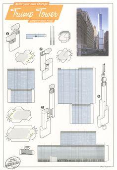 matt bergstrom postcards - trump tower