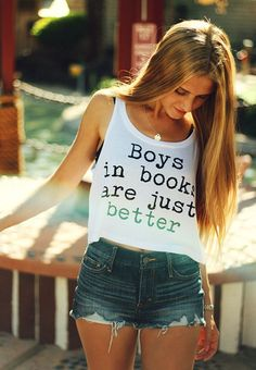 Boys in books crop top - Fresh-tops.com