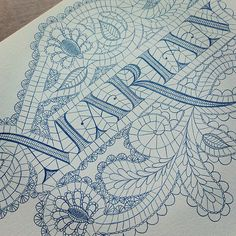 beautiful way to incorporate pattern and letters