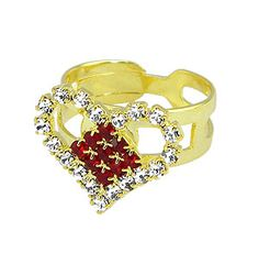 #Anel ajustável #folheado a# ouro em forma de coração todo em strass - Código: AN0406 - Preço 20,90 - Garantia de 1 ano pós compra. Compre em: www.imagemfolheados.com.br/?a=76729
