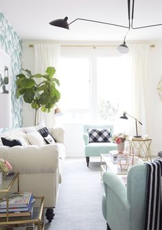 Nicollette Mason's living room makeover by Emily Henderson