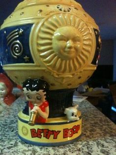 Betty Boop Limited Edition Cookie Jar made in China by Vandor: