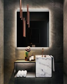 Guarantee you have access to the best lighting fixtures for your luxury bathroom project. Washroom Design, Bathroom Design Luxury, Bathroom Tile Designs, Ikea Bathroom, Bathroom Vanities, Bathroom Fixtures, Bathroom Ideas, Wc Design, Modern Toilet Design