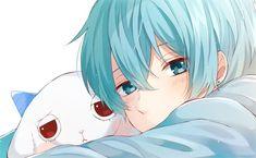 Kawaii Anime, Lolis Anime, Blue Anime, Cute Anime Chibi, Cute Anime Boy, Anime Art, Anime Style, Karma Y Nagisa, Anime Boy Zeichnung