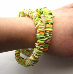 Recycled plastic bottle bracelet upcycled jewelry by dekoprojects