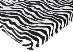 Funky Zebra Fitted Crib Sheet for Baby and Toddler Bedding Sets by JoJo - Zebra Print Microsuede $18.99