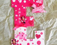 Minnie Mouse Letters / Mickey Mouse Letters by ASTAcrafts on Etsy