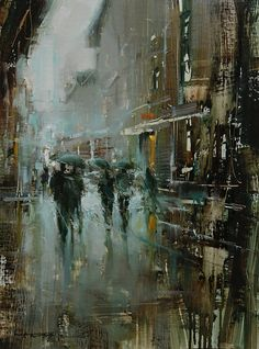 Tibor Nagy-Hailing from Slovakia, Tibor Nagy uses thick layers of paint to create his landscape oil paintings. Nagy utilizes heavily loaded brushes and painting knives to apply his paint over a base of thinly applied darks, and creates further textures by deliberately scraping ares with his painting knife.