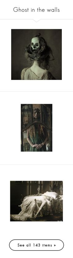 """""""Ghost in the walls"""" by misthemma ❤ liked on Polyvore featuring Halloween, macabre, ghost, pictures, backgrounds, hair, people, photos, filler and models"""