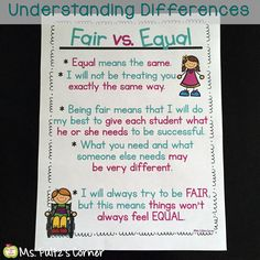 Ms. Fultz's Corner: Fair Doesn't Have to Be Equal