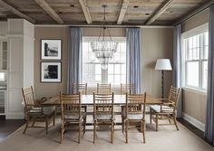 Dining Room. Reclaimed Ceiling Dining Room. Dining Room with Rustic Reclaimed Ceiling. #DiningRoom #ReclaimedCeiling