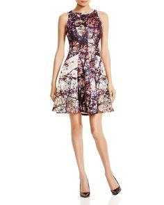 Karen Kane Printed Scuba Dress   Bloomingdale's