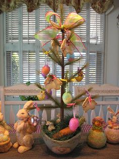 Country Creations By Denise: New Easter Tree!!!!