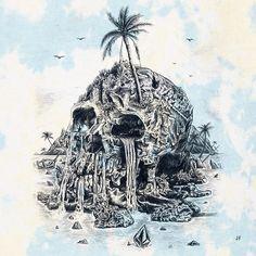 Jamie Browne Art @jamiebrowneart ~ jamiebrowneart.com ~ Isla De La Meurte tee graphic for Volcom