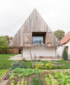 """GENS """"hides"""" a contemporary house inside a traditional but top-heavy Alsatian…"""