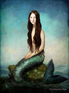 ♒ Mermaids Among Us ♒ art photography paintings of sea sirens water maidens - Christian Schloe