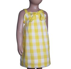 Vestido de cuadros amarillo de nice things mini