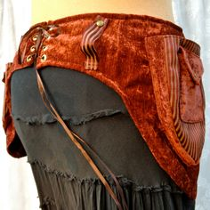 WANT.  Hip-loving utility belt - plus size festival belt - rust brown stripes - size Extra Large. $95.00, via Etsy.