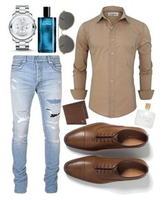 """DATE NIGHT"" by ana04223 ❤ liked on Polyvore featuring Balmain, Zara, Movado, Davidoff, Dries Van Noten, Tod's, mens, men, men's wear and mens wear"