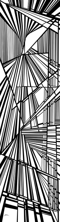 soaring - Dynamic black and white optical obsession, organic abstract by Douglas Christian Larsen - http://fineartamerica.com/featured/soaring-douglas-christian-larsen.html
