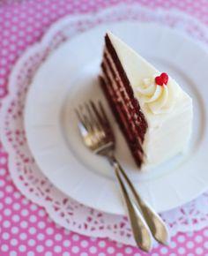 Red velvet cake - perfect for Valentines Day!