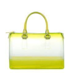 Tildon, neon yellow ombre leather purse for Shoedazzle