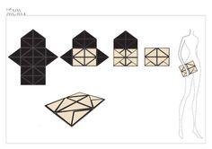 Tiravan Vanichnam origami leather bags
