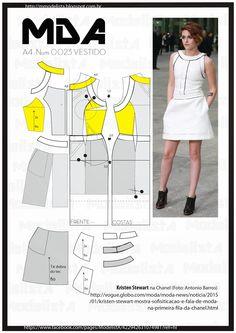 ModelistA: A4 - NUM - 0023 - VESTIDOterça-feira, 3 de fevereiro de 2015 A4 - NUM - 0023 - VESTIDO Se você ainda não tem um look total white no seu guarda-roupa, tá na hora de comprar um djá! A produção 100% branquinha está mais em alta do que nunca, mas vale tomar alguns cuidados antes de investir e se vestir. http://revistaglamour.globo.com/Moda/Tendencias/noticia/2014/10/total-white-aprenda-usar-look-branco-sem-errar.html
