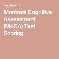 How Does The Montreal Cognitive Assessment MoCA Test For Dementia