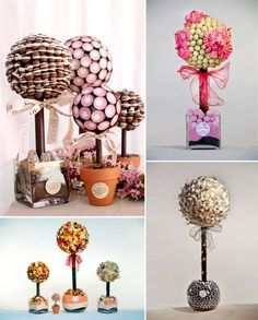 somebody say sweet trees? these are amazing and I would definitely consider using these for a quirky wedding- maybe a double use of centre pieces and favours?