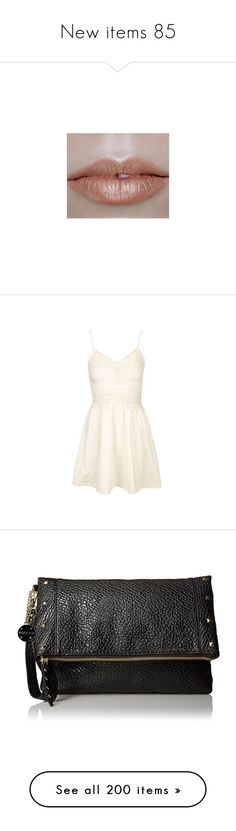 """""""New items 85"""" by cavallaro ❤ liked on Polyvore featuring pictures, photos, lips, neutral, dresses, cream, white strappy dress, sundress dresses, strappy dress and strappy sundress"""