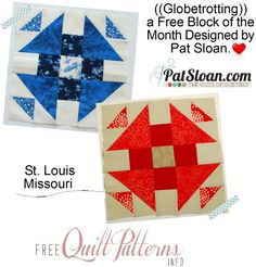 Pat Sloan: Globetrotting my FREE Block of the month - Block 6