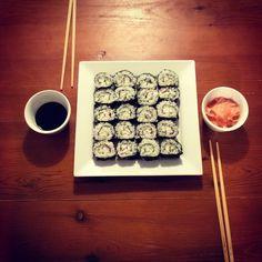 first-time DIY sushi