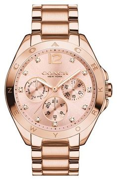 COACH 'Tristen' Crystal Index Multifunction Bracelet Watch, 36mm available at #Nordstrom