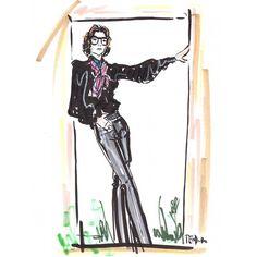 When in doubt I Yves #YvesSaintLaurent #portrait #pose #illustration #Marrakesh #1969