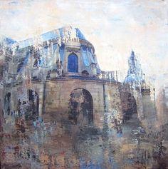 Paris Rêvé VI / Nurieh Mozaffari / mixed media on canvas / Art Size: 12 x 12 / C5662NM