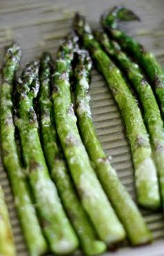 Roasted asparagus with parmesan and lemon.