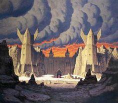 THE GATE OF MORDOR BY GREG AND TIM HILDEBRANDT