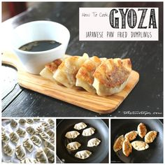 Ever want to learn to make those delicious dumplings you find at your favorite Japanese restaurant? This tutorial will show you how! How to Make Japanese Pan Fried Dumplings - Gyoza Tapas Recipes, Asian Recipes, Real Food Recipes, Great Recipes, Cooking Recipes, Tapas Food, Asian Foods, Cookbook Recipes, Cooking Ideas