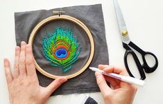 Consider how you might present your finished embroidery/stitched piece to a friend. A wearable patch ? This is a great post by Jessica Long on how to turn your hand embroidered art into a wearable patch.  Easy to follow.