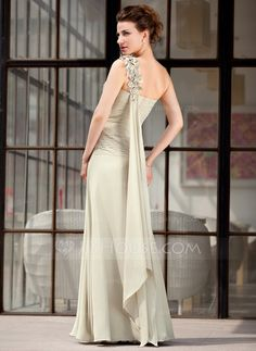 A-Line/Princess One-Shoulder Floor-Length Ruffle Appliques Lace Zipper Up Regular Straps Sleeveless No 2013 Other Colors General Plus Chiffon Mother of the Bride Dress