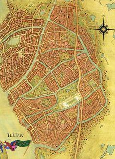 Robert Jordan Wheel of Time Illian Map
