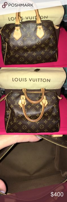 Louis Vuitton Boston speedy Beautiful Louis Vuitton w lock and key and dust cover speedy 25 Louis Vuitton Bags Shoulder Bags