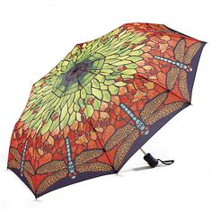 Stained Glass Dragonfly Umbrella - Gifts, Clothing, Jewelry, Home Decor and Home Furnishings as Featured in Popular Catalogs | Catalog Favor...