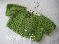 Bebeknits French Style Brittany Toddler Cardigan by bebeknits