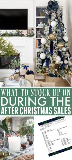 What to Stock up on in the After Christmas Sales: Free Printable Stock Up List!   The Creek Line House Diy Christmas Room, Homemade Christmas Decorations, All Things Christmas, Christmas Holidays, Christmas Crafts, Holiday Decor, Christmas Ideas, Small House Decorating, Decorating Tips
