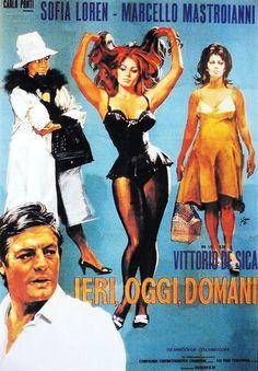 Ieri, oggi, domani, 1963, directed by Vittorio De Sica, starred by Sofia Loren and Marcello Mastroianni