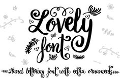 Lovely script and hand lettered font with swirls and vines ornaments SVG files of the glyphs High-Quality Dingbat Fonts, Cursive Fonts, Cool Fonts, New Fonts, Smile Quotes, Funny Quotes, Create Quotes, Commercial Use Fonts, Calligraphy Handwriting