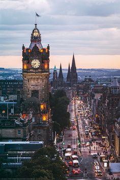 The Balmoral Clocktower, Edinburgh, Scotland, UK